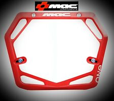 Mac One Race Mode Pro Bmx Number Plate - Red