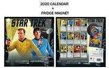 STAR TREK TV SERIES CLASSIC OFFICIAL CALENDAR 2020 + Metal Machine Fridge Magnet