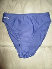 SPEEDO 10 Blue One-Piece Swimsuit Bottoms Retail $44