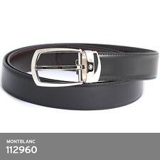 Montblanc 112960 Reversible Leather Horseshoe Belt FedEx / EMS Free shipping