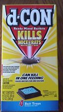 d-CON Ready Mixed Baitbits. #1 Killer, Rats/Mice, Poison, Pellets, 4-3 OZ TRAYS!