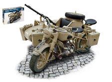Bmw R75 German Military Motorbike W/ Sidecar Plastic Kit 1:9 Model 7403 ITALERI