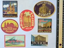 Set of 7 Retro Vintage Zurich Swiss Italy Fuji Japan Luggage Label DECAL STICKER
