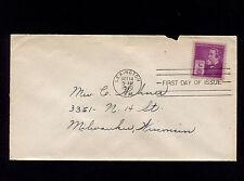 1940 Lexington VA Cyrus McCormick Inventor Sc#891 FDC