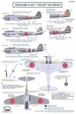 Berna Decals 1/48 NAKAJIMA Ki-43-I HAYABUSA OSCAR Japanese WWII Fighter