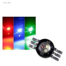 5 x Highpower LED Chip 3 Watt RGB, rot grün blau, Fullcolor 3W Power Leuchtdiode