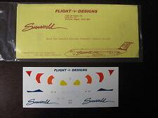 1/200 DECALS FLIGHT DESIGNS SUNWORLD AIRLINES McDONNELL DC-9-30 DECALCOMANIE