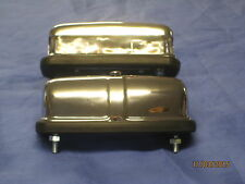 PAIR OF  MG MGB MIDGET CHROME NUMBER PLATE LAMP / LIGHT 127916 rubber bumper