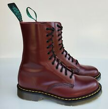 Solovair Dr. Martens England MIE Rare Oxblood 11 Eye Leather Boots UK7 US8
