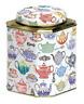 Deborah Pope - CUP3009  - Teapot - Corner Cut Dome Tea Caddy - Retro Storage Tin