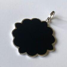 Tous Sterling Silver 925 Black Onyx Snowflake Turkish Design Pendant 1 3/4'' 11g