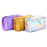 US Holographic Laser Bag Makeup Cosmetic Bag Pencil Case Holder Wallet Handbag