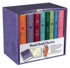 WORD CLOUD BOX SET, LAVENDER - BRONTE, CHARLOTTE/ ALCOTT, LOUISA MAY/ AUSTEN, JA