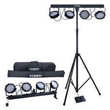 Kam LED Partybar V2 Lighting System Version 2 DMX 4XLED Lights Stand & Carry Bag