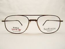 Van Heusen Parker Brown 56 x 18 140 mm Eyeglass Frame with Case & Cleaning Cloth