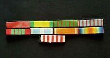 Placard de rappels Légion d'Honneur Coloniale 1914-1918 WW1 French Ribbons bar