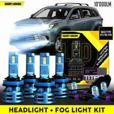 Titan LED Headlight And Fog Light Kits for Toyota Highlander 2017 2018 2019 2020