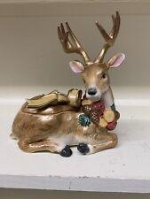 New ListingFitz And Floyd Vintage Christmas Reindeer Cookie Jar