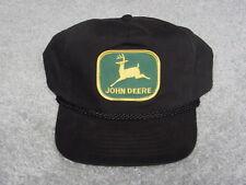 JOHN DEERE LOGO BLACK WINTER ADULT BALL CAP HAT NEW
