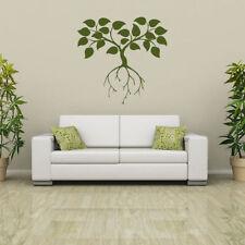 Pegatinas y plantillas de pared vinilos de flores, plantas y árboles para el hogar