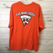 Little Caesars Orange HOT-N-READY PIZZA EAT MORE Pizza TEE T-Shirt Size Mens XL?