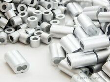 100 Ferrule 3/16 Dbl. Barrel Aluminum Cable Snare Wire Swage +100 Line Stop End