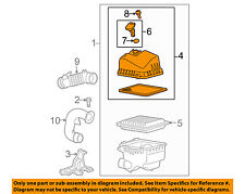 TOYOTA OEM Yaris Air Cleaner Intake-Filter Box Housing Lid Top Cover 1770521100