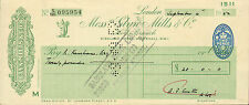 "glynn.mills & co "" holts branch whitehall london ""  september 4th 1952"