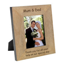 Wedding gift  Mum & Dad thank you present engraved personalised photo frame #2