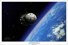 """""""Poyekhali! (Off We Go!)"""" Mark Karvon Giclee Print - Major Yuri Gagarin/Vostok 1"""