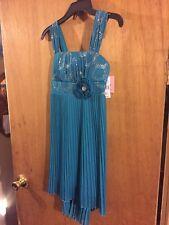 new nwt amys closet dress dressy size 10 teal Silver dance wedding retail$48