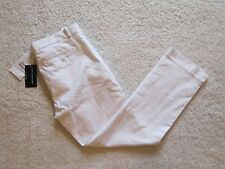 RALPH LAUREN SPORT Women's size 10 White Twill Cropped Ankle Pants 32 x 28 NWT