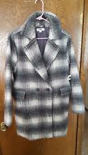 NWT  Aeropostale Women's Faux Fur  Coat   Sz. Large Grey White  NEW