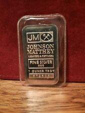 1 OZ JOHNSON MATTHEY JM .999 FINE SILVER BAR
