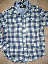 (H642) Cooles American Outfitters Boys 2 in 1 Optik Hemd + Logo Stickerei gr.116