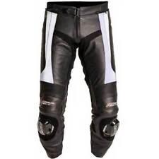 Pantaloni in argento per motociclista