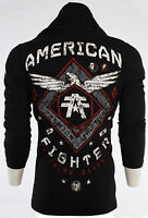 AMERICAN FIGHTER Mens HOODIE Sweat Shirt ABRAHAM Athletic BLACK Biker $65