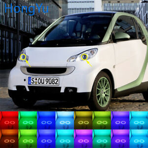 RGB Multi-Color LED Angel Eyes Halo Rings Kit for Smart Fortwo W451 2008-2014