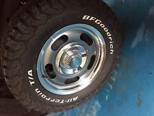 "18"" 18x8.5 Retro Rally Wheels Rims Tires Package Chevy GMC 6x139.7 6x5.5 BFG"