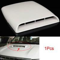 White Car SUV Air Flow Intake Hood Scoop Vent Bonnet Decorative Cover Universal