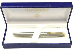 Waterman Hemisphere Stainless Steel Rollerball - New in Box