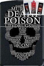 Zippo CM1312 Death Skull Of Words Lighter + FUEL FLINT & WICK GIFT SET