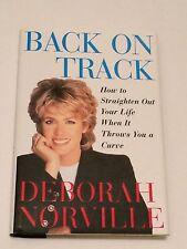 DEBORAH NORVILLE SIGNED x 2 Back On Track 1997 BOOK 1st- Inside Edition, Today