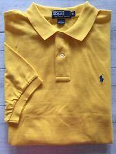 Men's Polo By Ralph Lauren Short Sleeve Polo Shirt Yellow W/Blue Pony Size XL