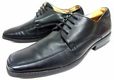 LOER LEGACY MENS OXFORD BLACK LEATHER LACE SHOES SIZE 10 M