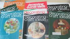 Group of (8) 70's Decorating & Craft Ideas Magazines Pictures & Advertisements
