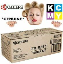 Kyocera GENUINE/ORIGINAL TK-825C CYAN/BLUE C Toner TK825/825 Copier Cartridge #B