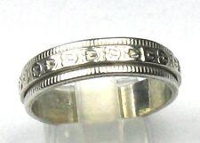 Schöner Drehring mit Muster massiv 925 er Silber Gr. 64/20,3 mm