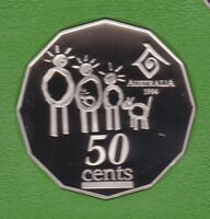 1994 50 Fifty Cent PROOF Coin ex Proof Set Year of the Family Australia ^