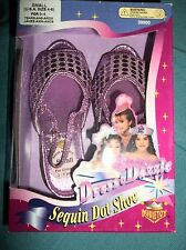 DRESS & DAZZLE GIRLS PRETEND PLAY SEQUIN DOT SHOES-PURPLE SIZE SMALL 4-6